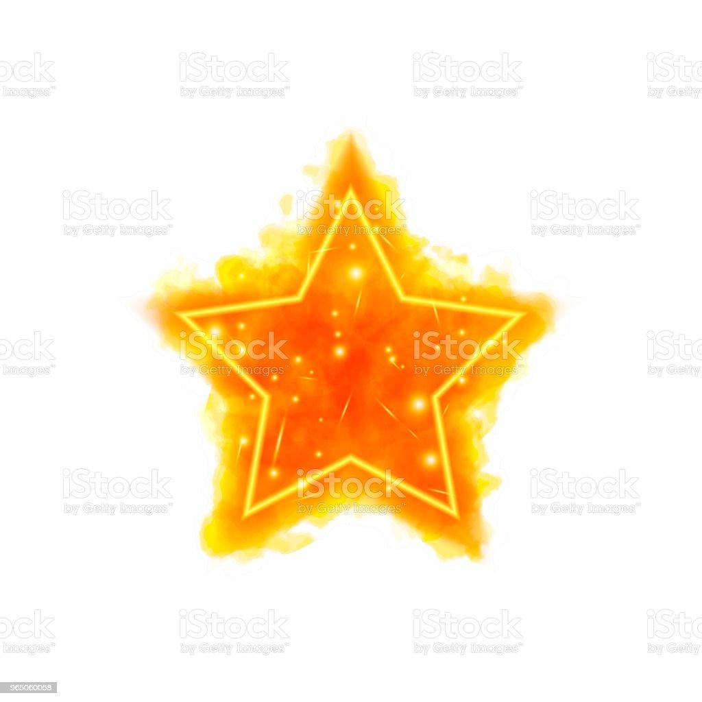 Watercolor fire star with neon counter watercolor fire star with neon counter - stockowe grafiki wektorowe i więcej obrazów abstrakcja royalty-free