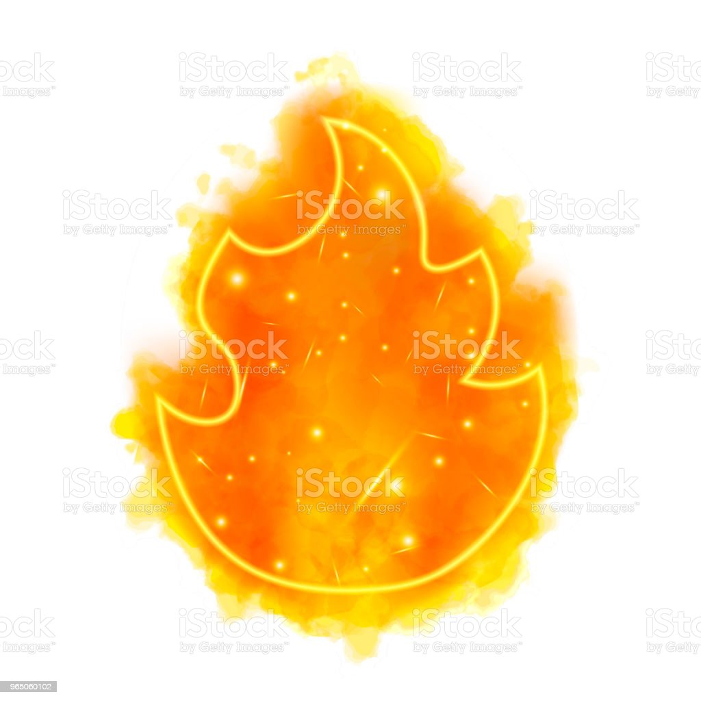Watercolor fire torch with neon counter royalty-free watercolor fire torch with neon counter stock vector art & more images of abstract