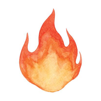 Watercolor Flame