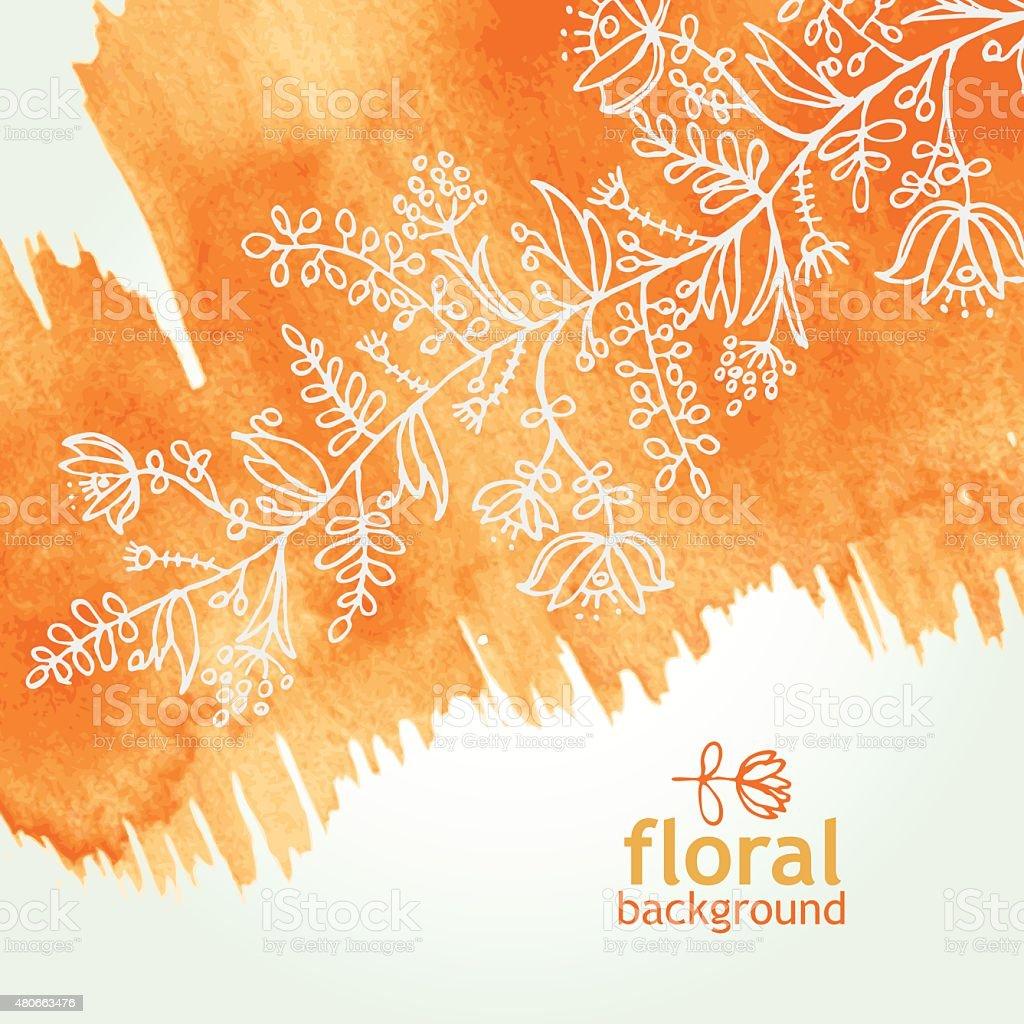 Aquarell Blumen Hintergrund. hand gezeichnete – Vektorgrafik