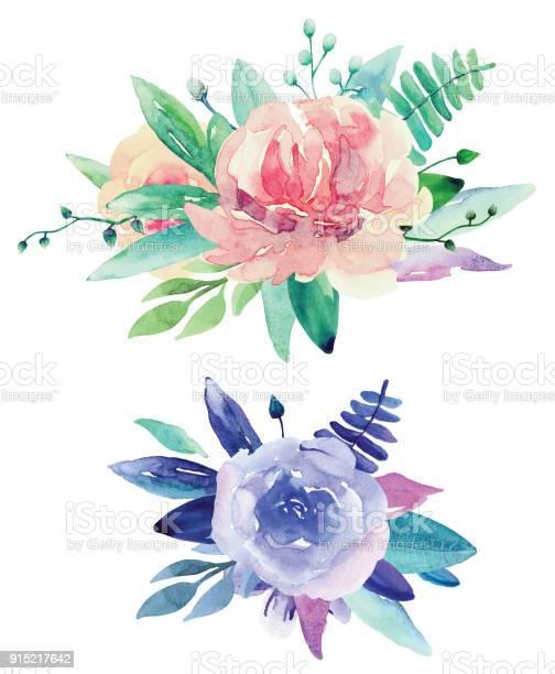 Watercolor floral bouquets vector clip art vector id915217642?b=1&k=6&m=915217642&s=612x612&h=vrqjtrtxxolayc0dgvdzbdvgspu8mop8uo6oopxkutu=