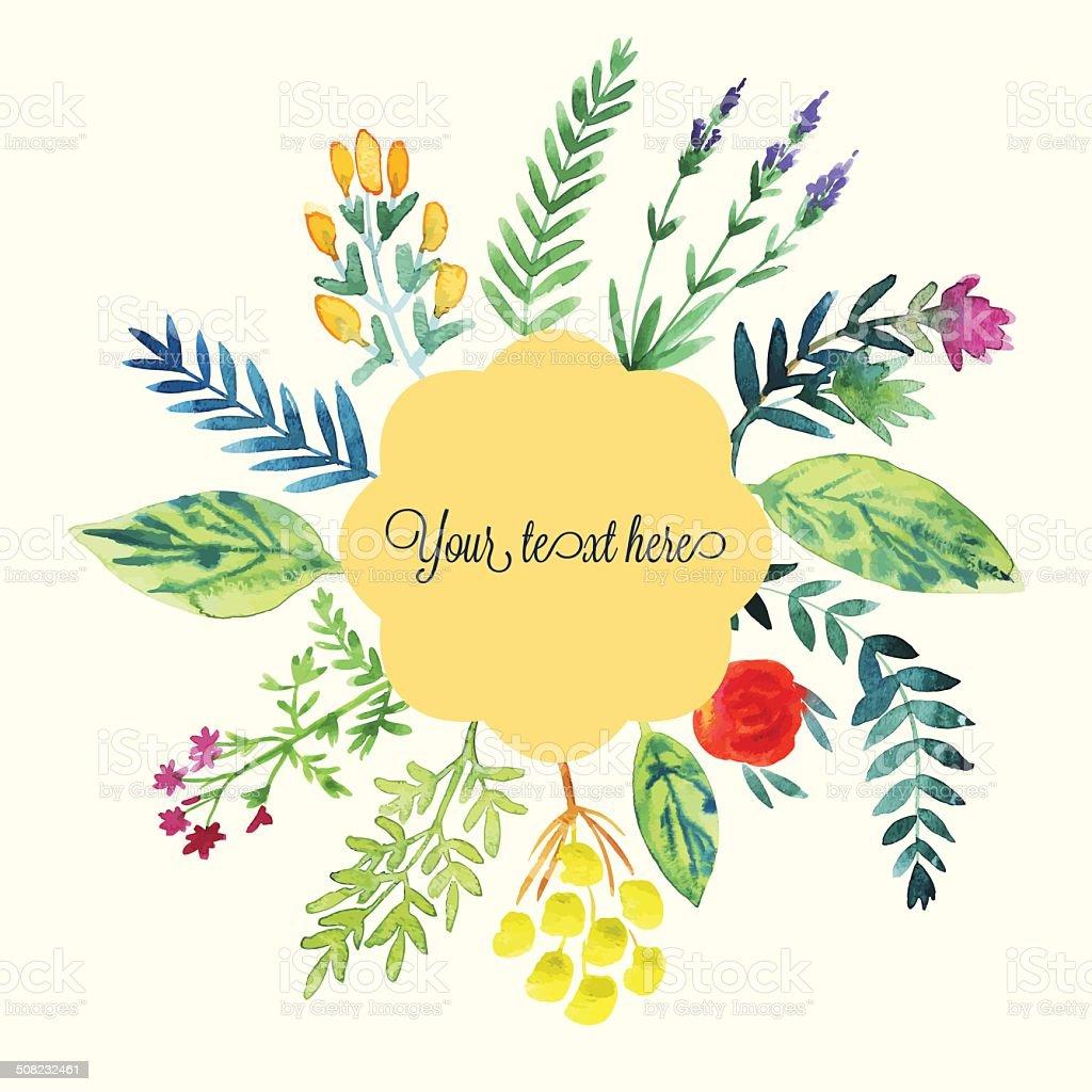 水彩花フレーム のイラスト素材 508232461 | istock