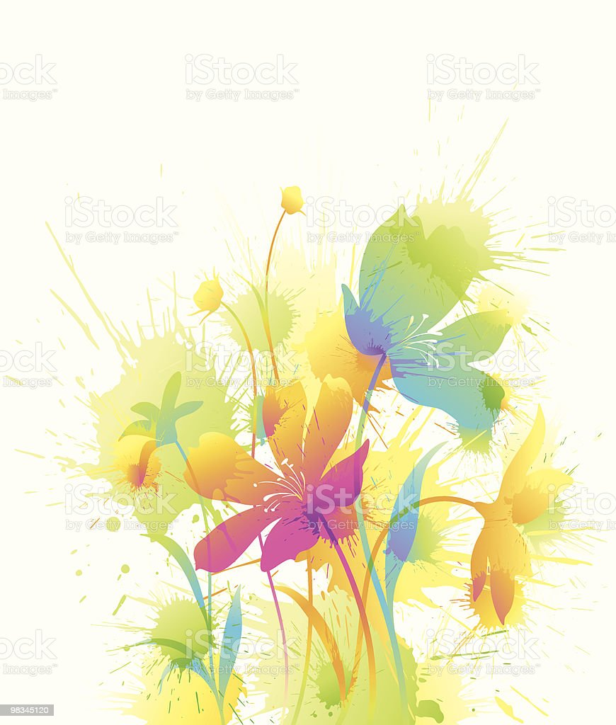 Watercolor Floral royalty-free watercolor floral stock vector art & more images of abstract