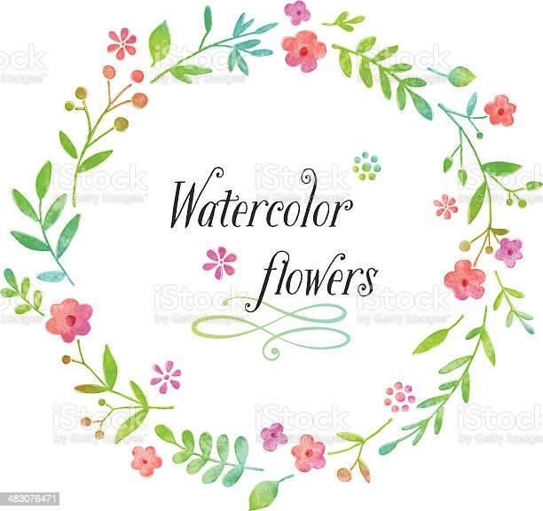 Watercolor floral wreath design vector id483076471?b=1&k=6&m=483076471&s=612x612&h=ejave0qmlhkgjdkyrhu5o7j9pzlno52dyjiux7zn9se=