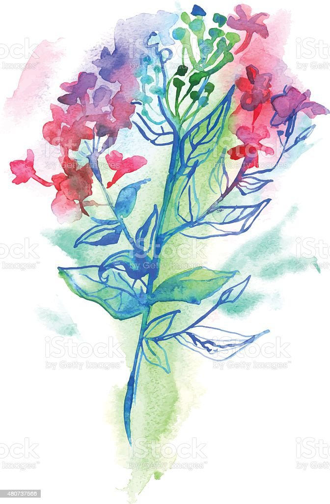 Watercolor flower royalty-free watercolor flower stock vector art & more images of 2015