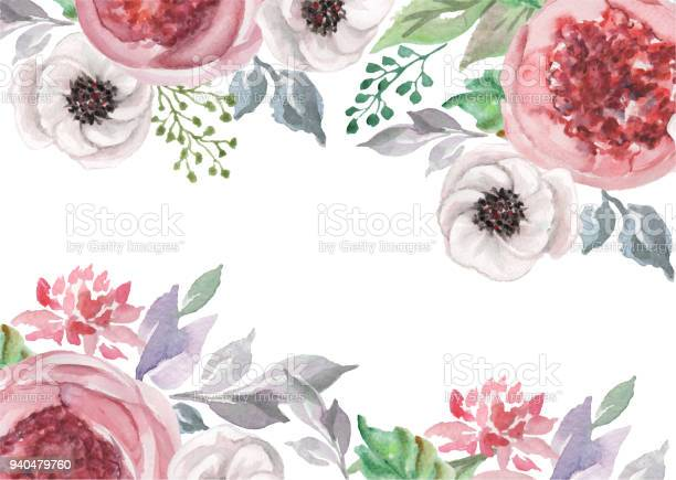 Watercolor flowers for design card postcard textile flyer vector id940479760?b=1&k=6&m=940479760&s=612x612&h=cqhn1zx7dyq yqhyctwud5mv8zxigs7lhfgwdz4562w=