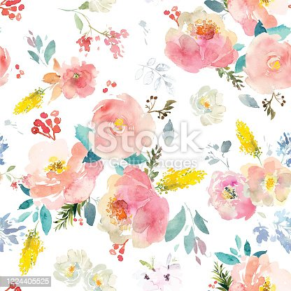 istock Watercolor Flowers Vector Format 1224405525
