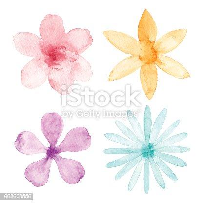 istock Watercolor Flowers 668603556