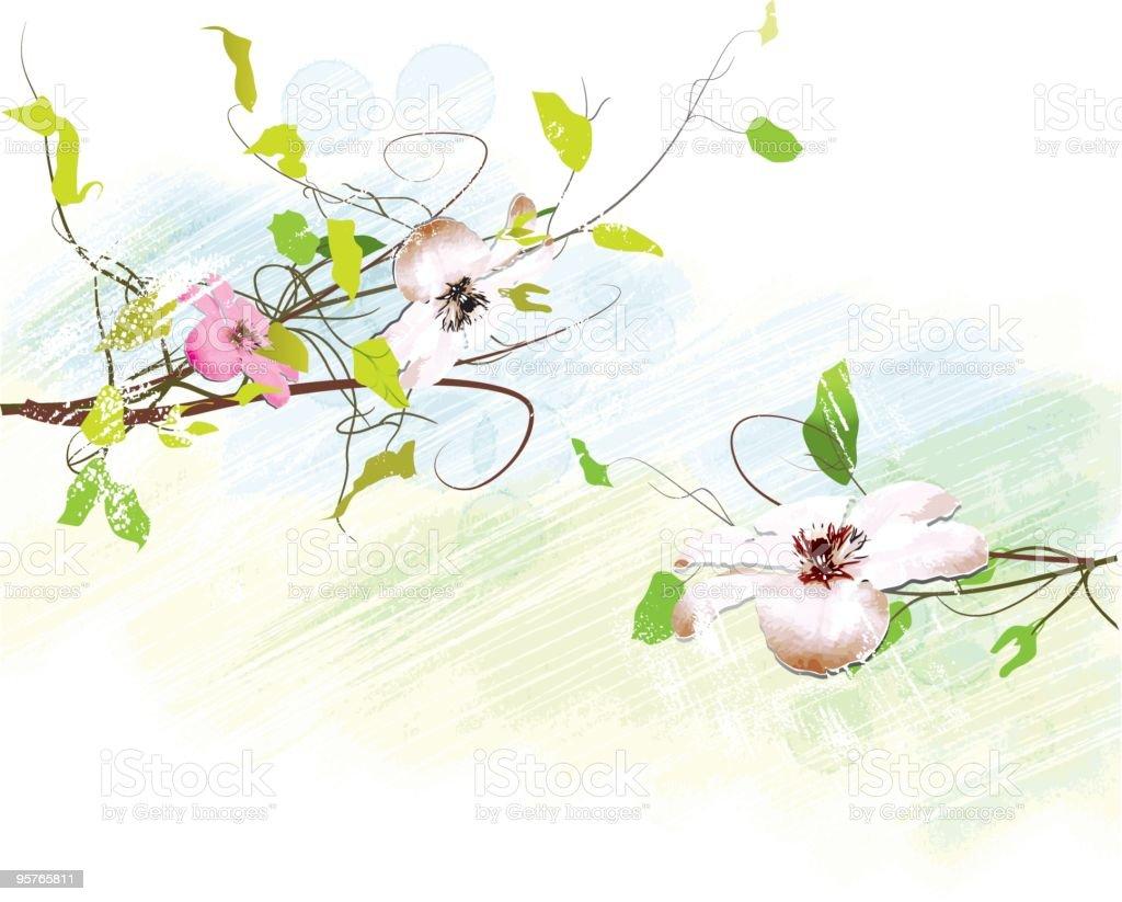 Watercolor flowers royalty-free stock vector art