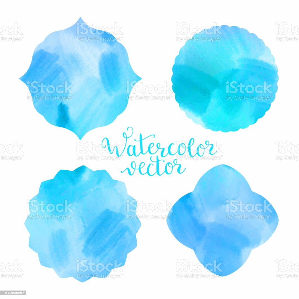Watercolor Frames Templates Stock Vector Art & More Images of ...