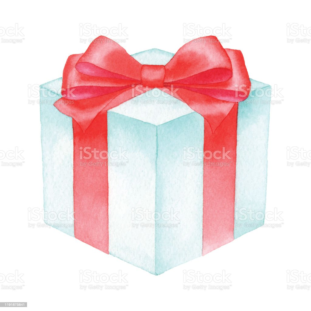 Watercolor Gift Box Stock Illustration Download Image Now Istock