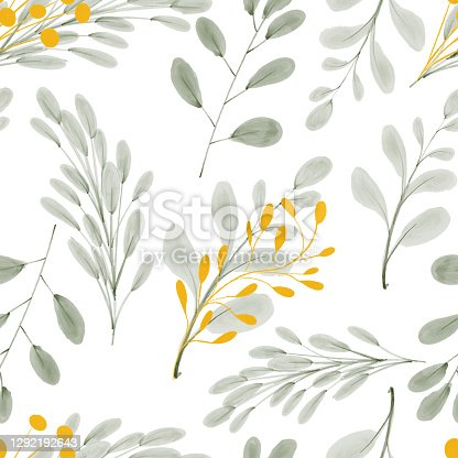 istock watercolor gold leaf foliage seamless pattern 1292192643