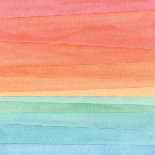 akwarela gradient sea zachód słońca - horyzont stock illustrations