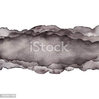 istock Watercolor Gray Wave Background 852657768
