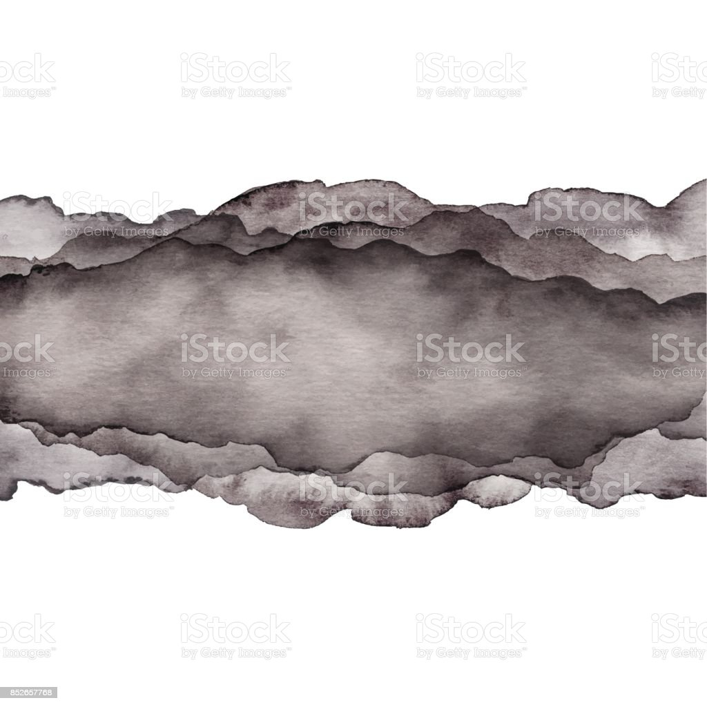 Aquarell graue Welle Hintergrund – Vektorgrafik