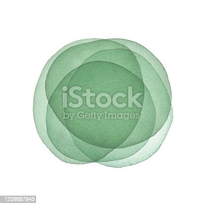 istock Watercolor Green Abstract Background 1209887945