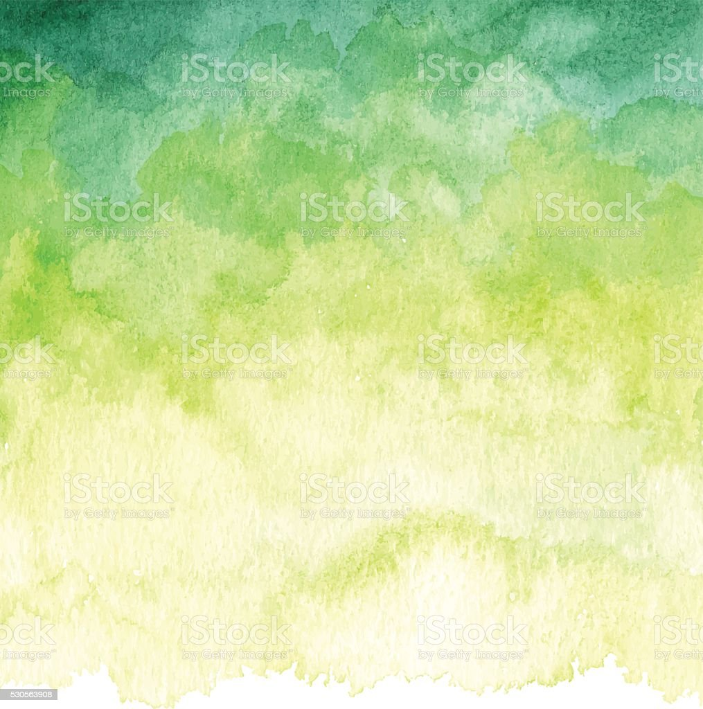 Watercolor Green Background vector art illustration