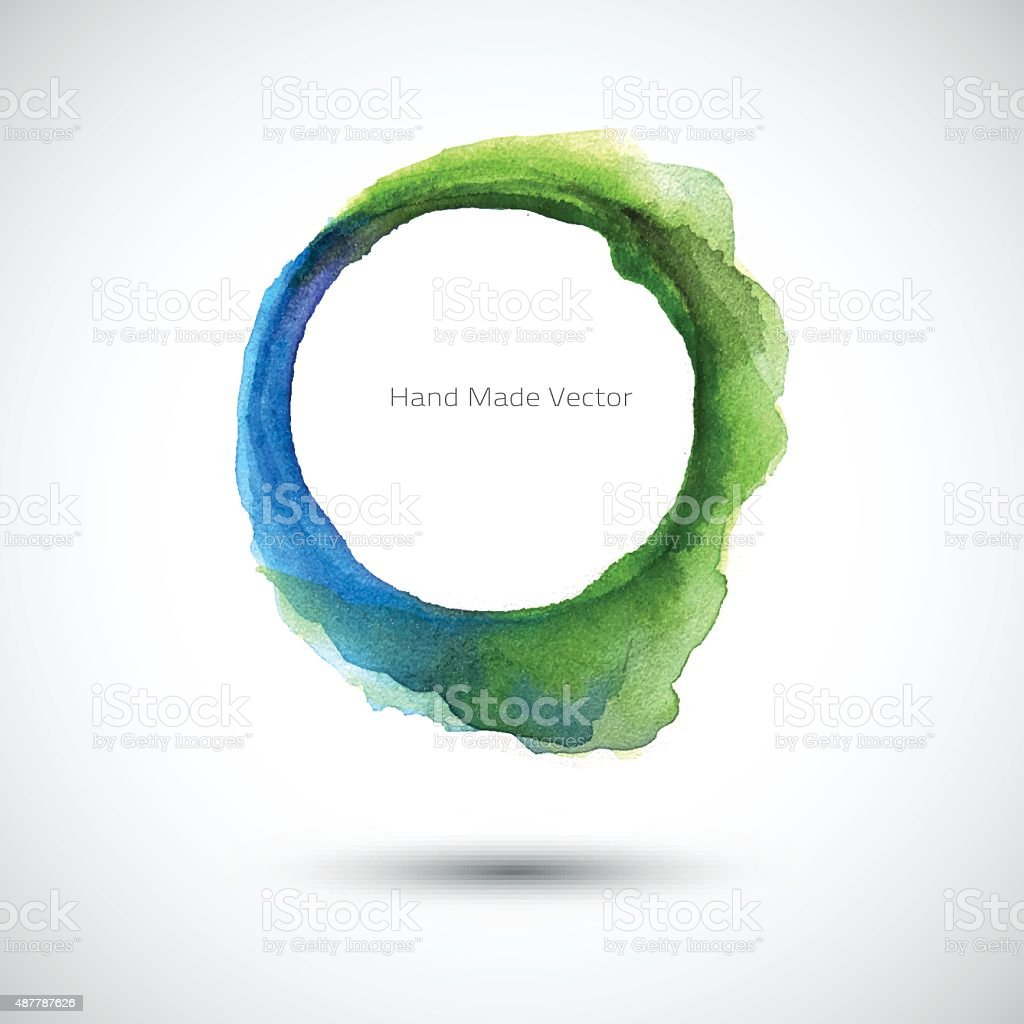 Watercolor Green Blue vector art illustration