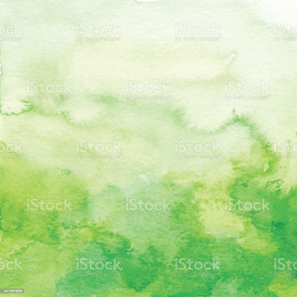 Aquarell grün Ombre Hintergrund – Vektorgrafik