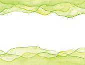 Watercolor Green Waves