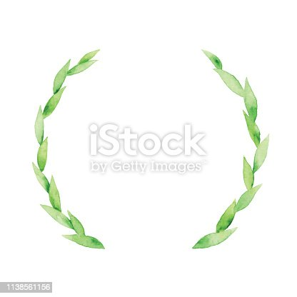 Vector illustration of green wreath.