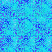 istock Watercolor Hand Painted Navy Blue Tile. Seamless Moroccan Ceramic Pattern. Vector tile pattern, Lisbon Arabic Floral Mosaic, Mediterranean Seamless Navy Blue Ornament. 1273269892
