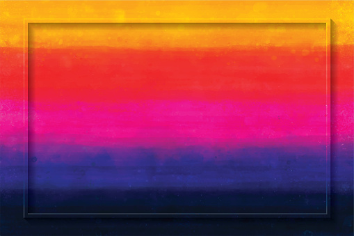 Watercolor Hand-painted Multicolored Stripes Copy Space Abstract Background
