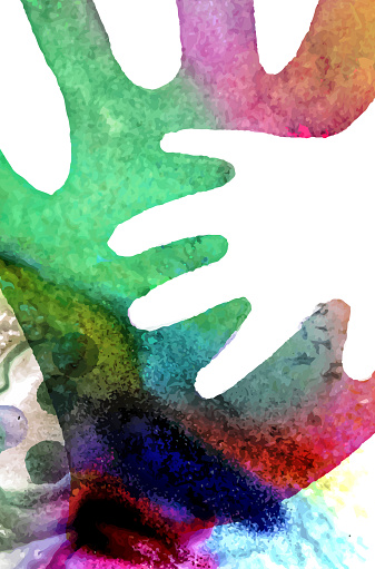 Watercolor Hands Illustration Stock Illustration - Download Image Now