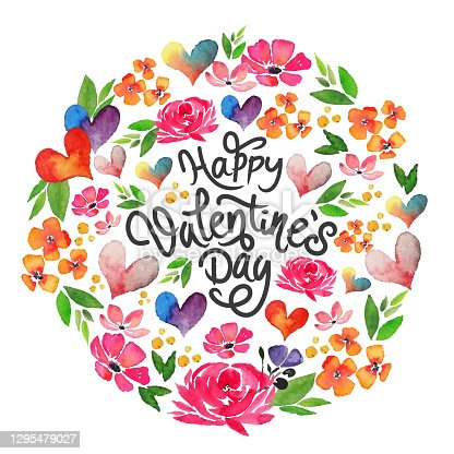 istock watercolor happy valentine's day card 1295479027