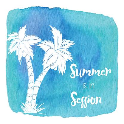 Watercolor Hawaiian, tropical graphic design