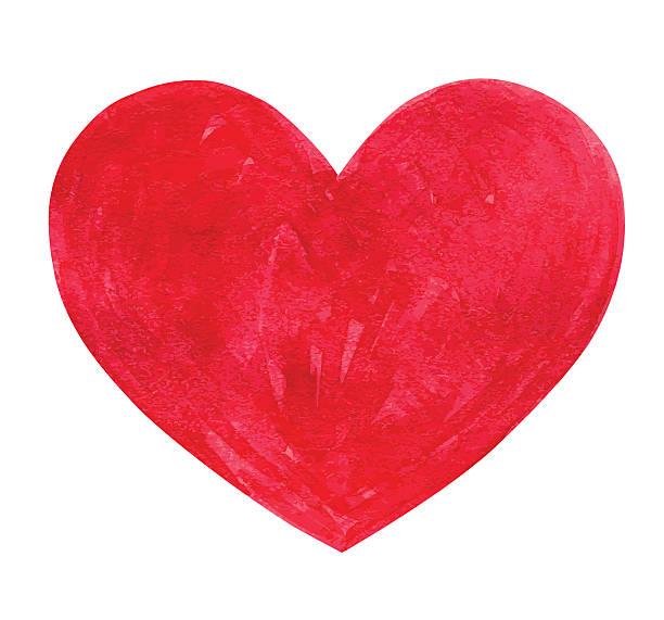 illustrazioni stock, clip art, cartoni animati e icone di tendenza di acquerello cuore - mika