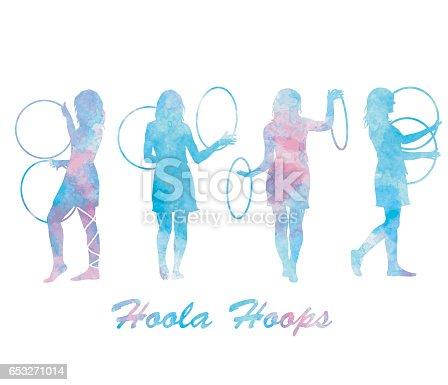 Watercolor Hoola Hoops