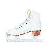 Vector illustration of figure skate.