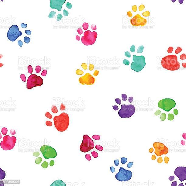 Watercolor illustration with animal footprints vector id522399095?b=1&k=6&m=522399095&s=612x612&h=ero pximkszvmlorqitpaadm6zgx 11ivlwkq ehws0=