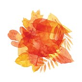 Vector illustration of watercolor painting.