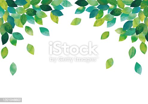 istock Watercolor leaves 1201046602