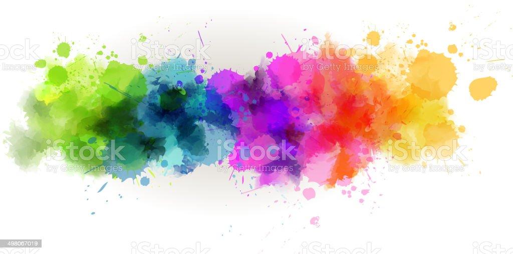 Watercolor line background vector art illustration