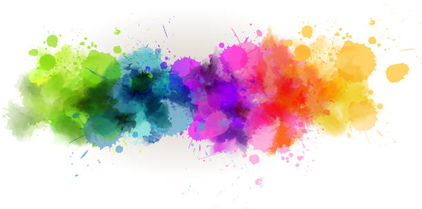 Watercolor line background Background with multicolored watercolor line. eps10 - contains transparencies splattered stock illustrations