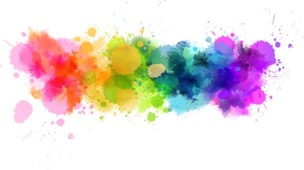 ilustrações, clipart, desenhos animados e ícones de linha aquarela - planos de fundo coloridos