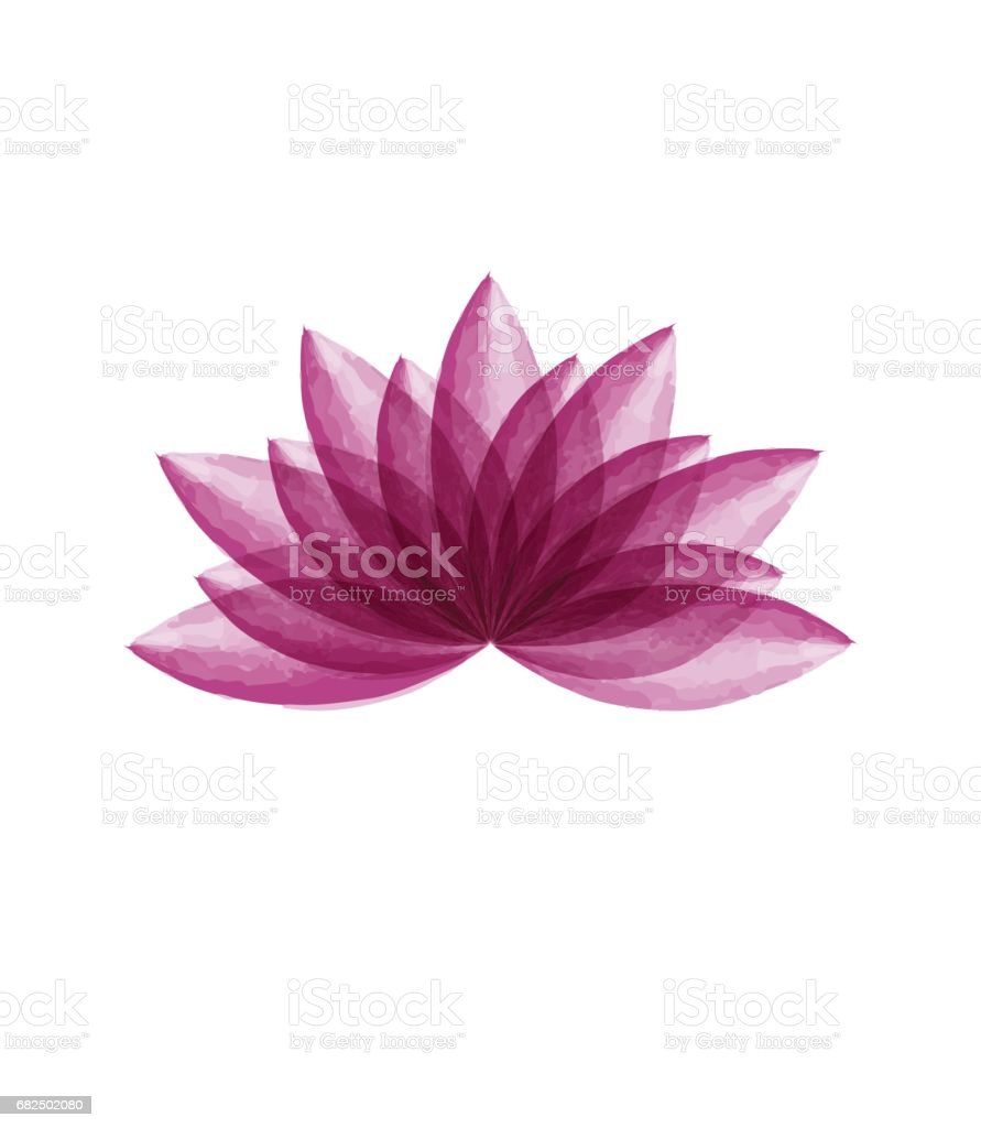 Watercolor Lotus Flower Stock Vector Art More Images Of Cut Out