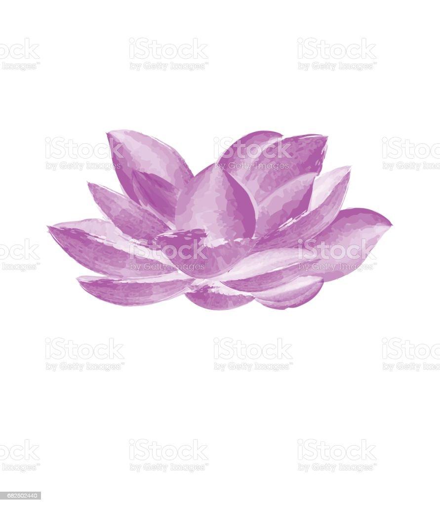 Watercolor Lotus Flower Stock Vector Art 682502440 Istock