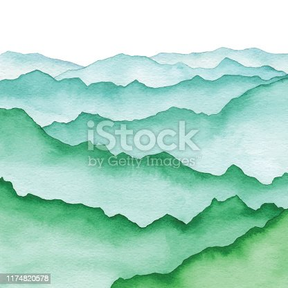 Vector illustration of mountains.