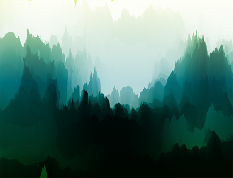 watercolor nature landscape poster for design