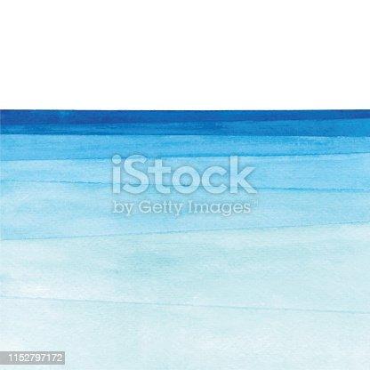 istock Watercolor ocean gradient 1152797172