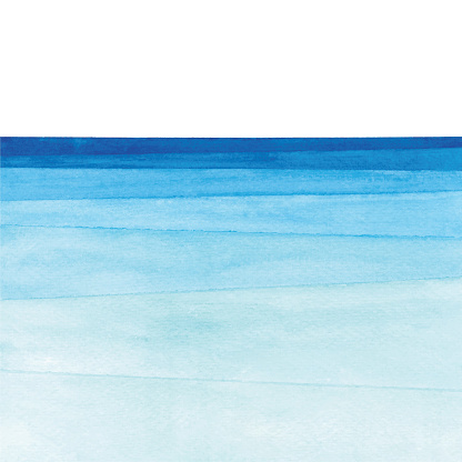 Watercolor ocean gradient