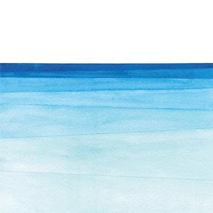 Watercolor ocean gradient clipart
