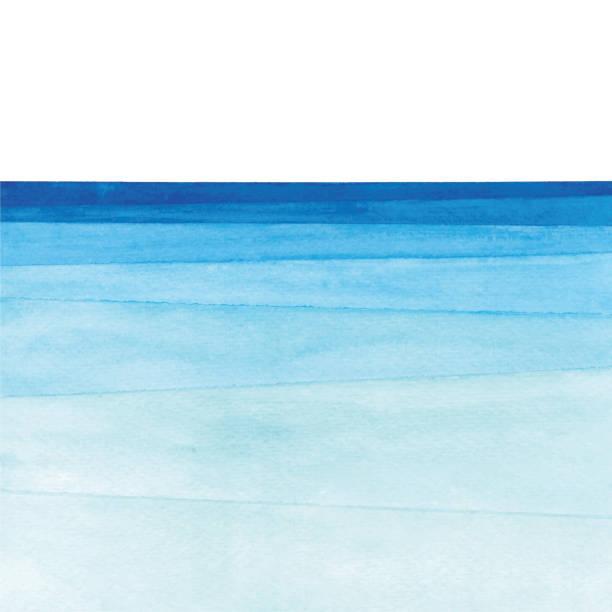 gradient oceanów akwareli - woda stock illustrations