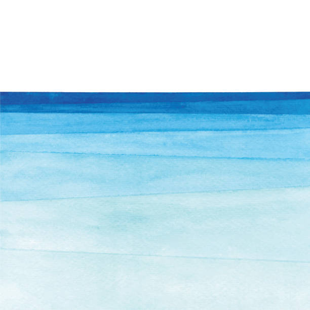 watercolor ocean gradient - море stock illustrations