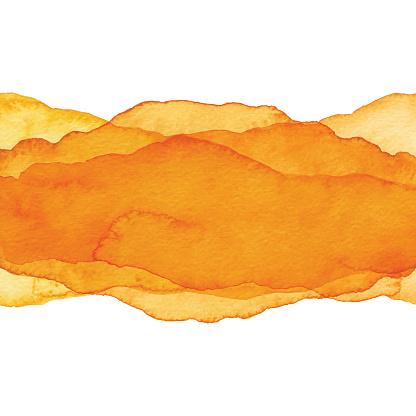 Watercolor Orange Color Wave Background