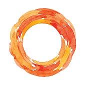 Vector illustration of orange background.